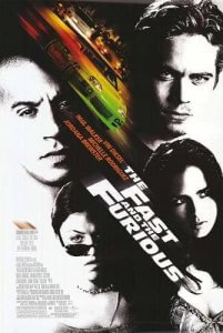 Fast and the Furious 2001 movie poster